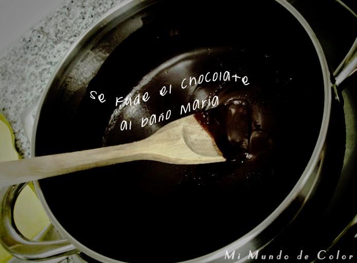 asi se funde el chocolate para una tarta