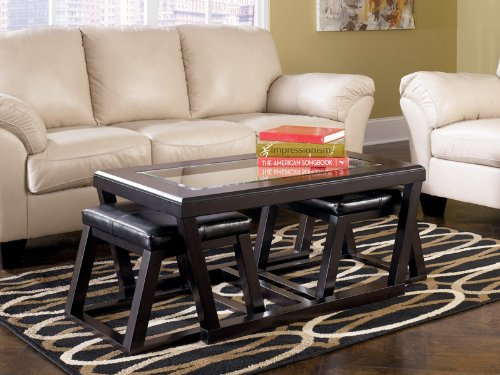 Kelton Coffee Table With Stools
