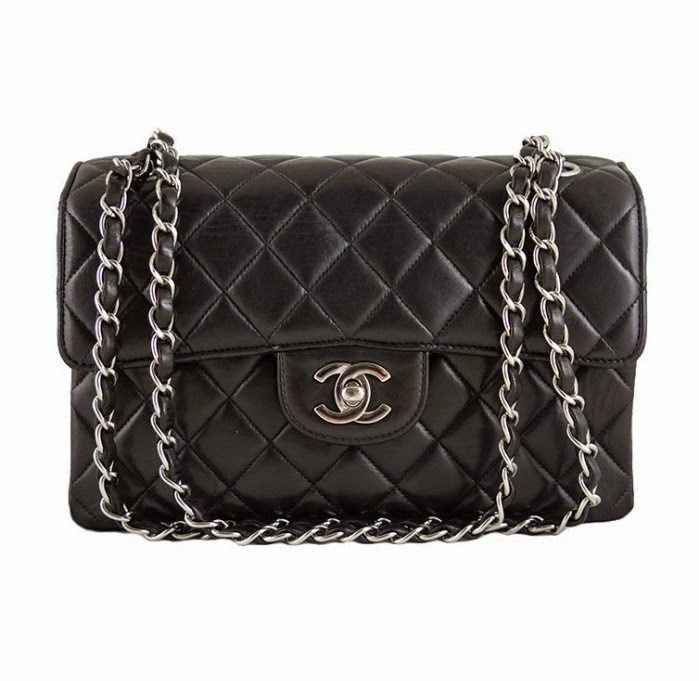 http://www.portero.com/chanel-black-lambskin-double-face-2-55-silver-hardware-classic-flap-rare-1