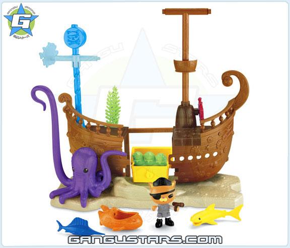the Octonauts オクトノーツ Kwazii's Shipwreck Fisher-Price toys クワジー