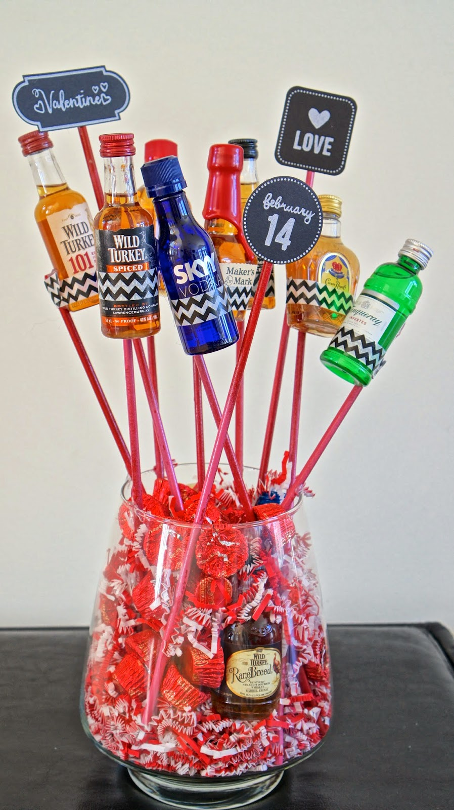 Food Fashion Home Diy Manly Valentine 39 S Booze Bouquet