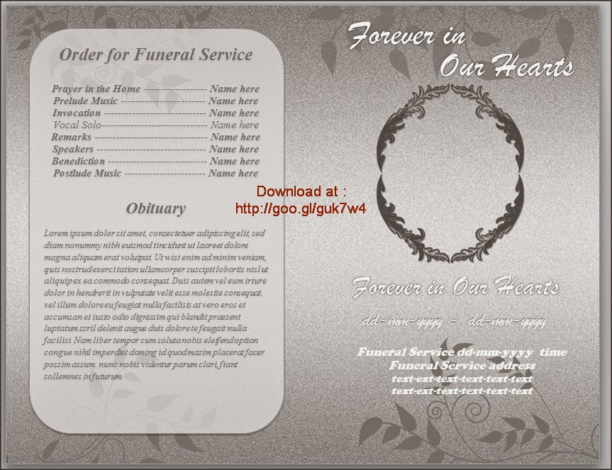 funeral program template word .