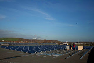 Photovoltaic Modules on Flat Warehouse Roof