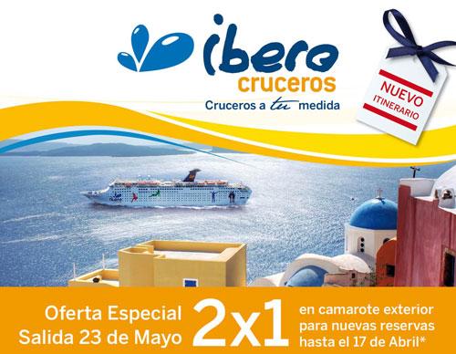 Cruceros 2x1 con IberoCruceros