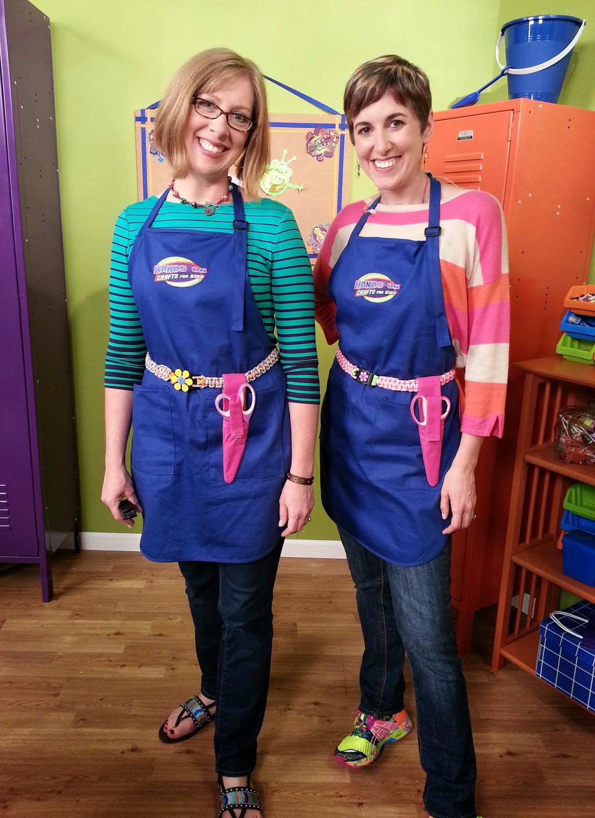 Katie and Candie  wearing Paracord Belts - Photo Courtesy of Hands On Crafts for Kids