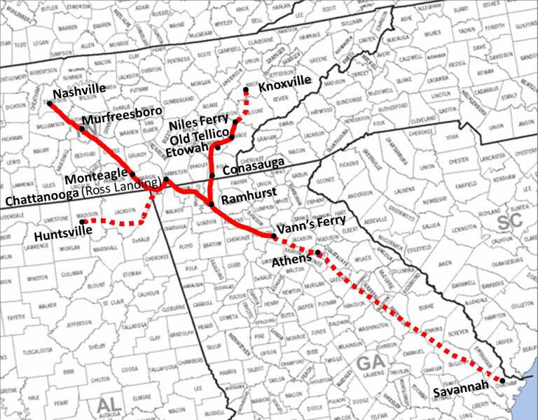 Road Map Of Tennessee And Georgia Georgia Map - Driving map of georgia