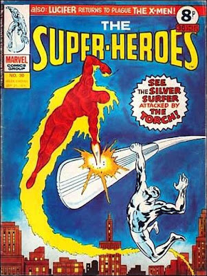 Marvel UK, The Super-Heroes #30, Human Torch vs Silver Surfer