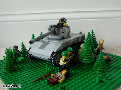 Lego Diaroma - Battle in the Woods