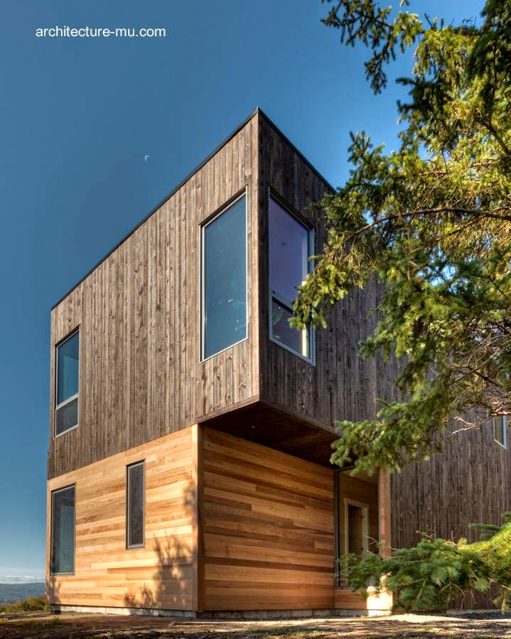 Una esquina de la moderna residencia canadiense