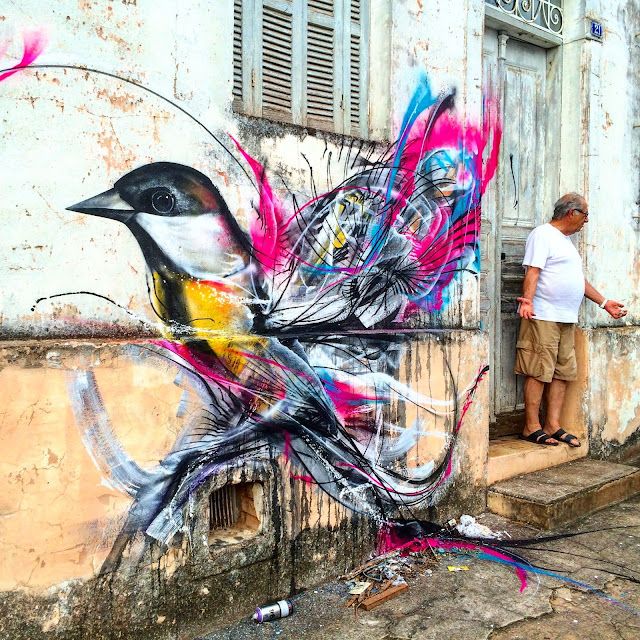 After several weeks of traveling, L7M is back in Brazil where he just finished working on a brand new piece somewhere on the streets of Sao Paulo.