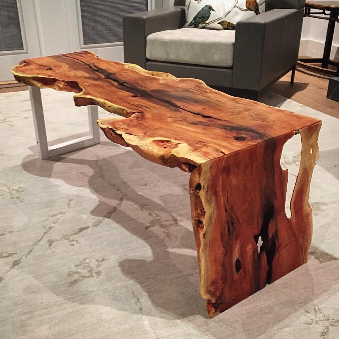Parota dining table by ben wheatley tropical exotic hardwoods - How About This Awesome Live Edge Carob Table By Thdecks