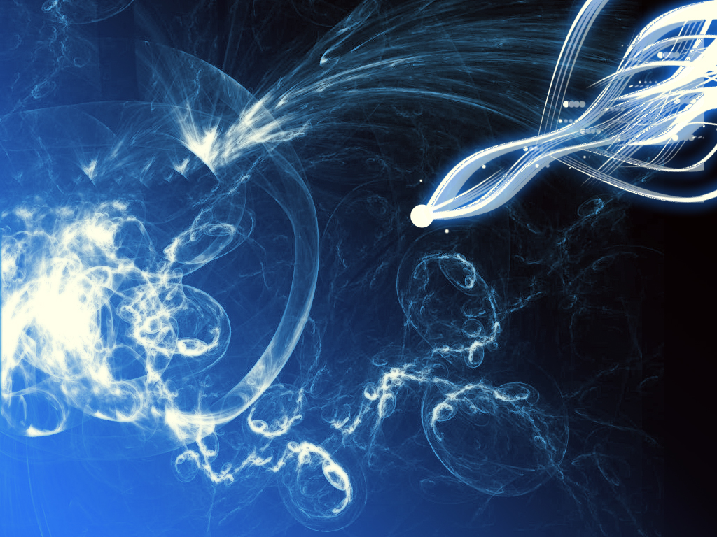 blue fractal art wallpaper 1 by axys