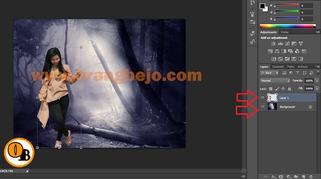 Tutorial Photoshop Cara  Menyamakan Warna Foreground dan Background