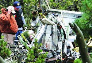 Se desploma Helicóptero cerca de Toluca.