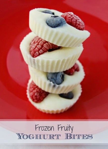 Frozen Yogurt Bites - What a fun idea for a cool, healthy treat for a hot summer day, or a super fun topper to granola for a kid friendly breakfast.
