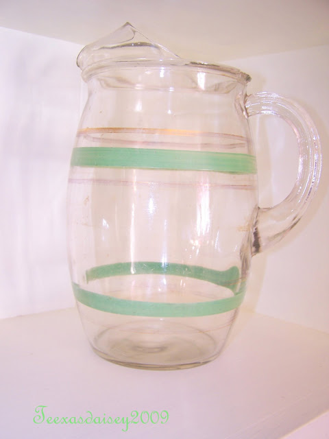 Texasdaisey: A bit O the Green vintage depression era pitcher from my collection
