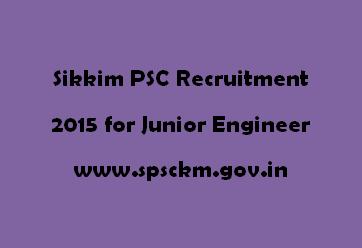 Sikkim PSC Recruitment 2015
