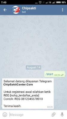 Chip Sakti Pulsa Murah Payment PPOB Lengkap Bisa Transaksi via Aplikasi Telegram