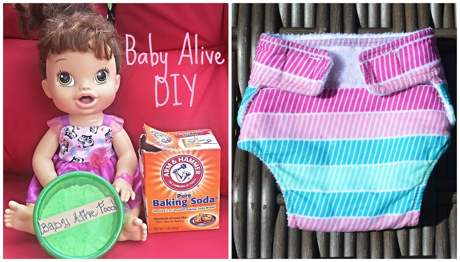 Our Little Loves Baby Alive Food and Diaper DIY