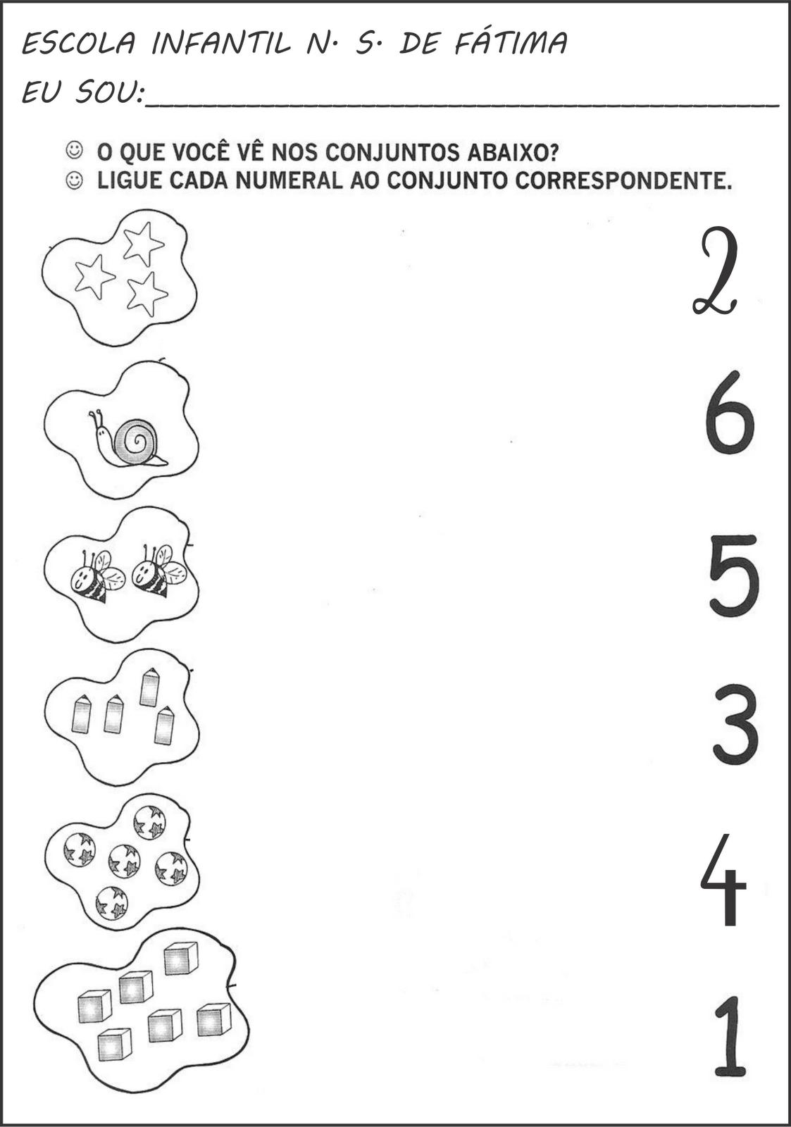 Well-known Atividades de matemática, numerais e quantidade - A Arte de  VS24