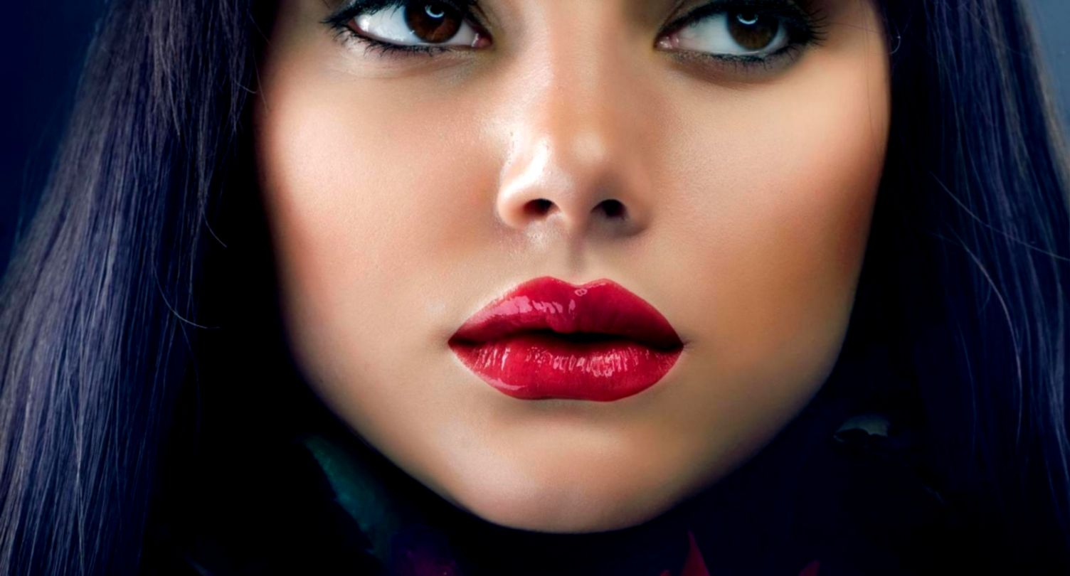 beautiful girl red lips wallpaper hd | mega wallpapers