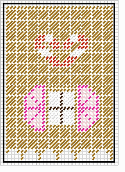 Gingerbread House Side pattern Plastic Canvas