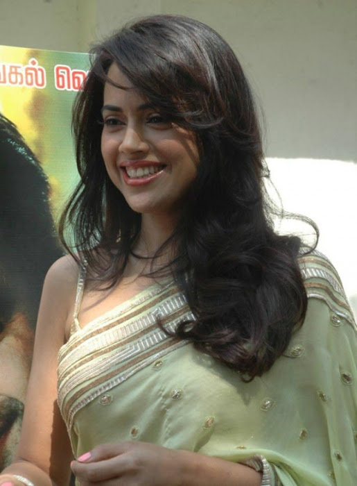 sameera reddy saree in vettai movie audio release photo gallery