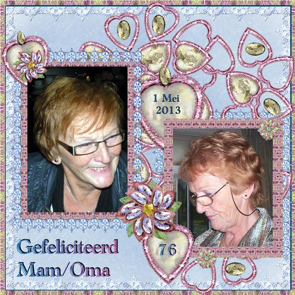 Gefeliciteerd Mam   Oma