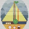 snail sailing cross stitch chart