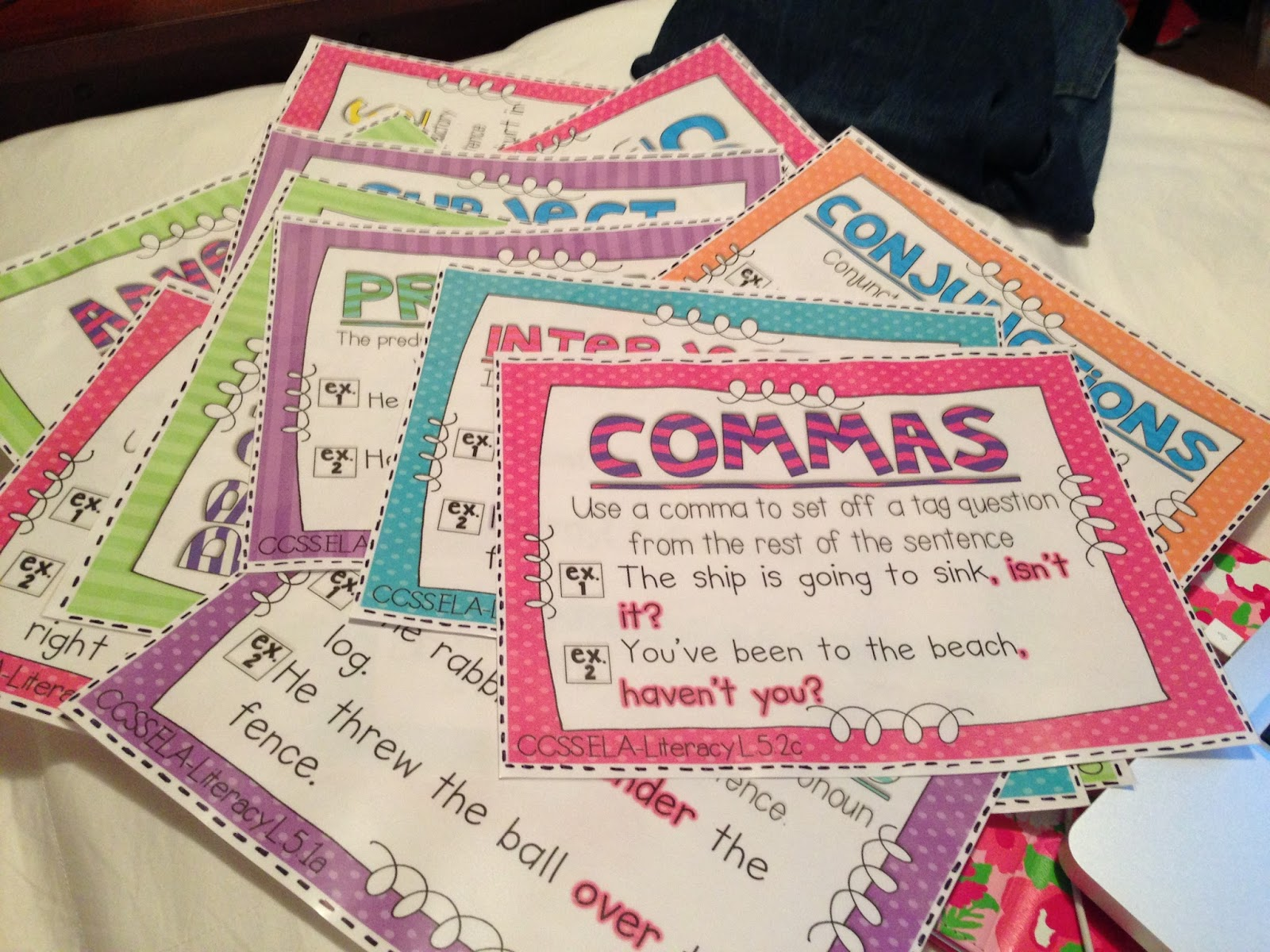 Parts of Speech Posters | Life in Fifth Grade