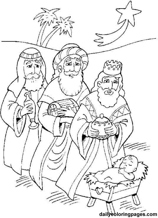Carta A Los Reyes Magos Y P 225 Ginas Para Colorear Navidad Wise Worship Coloring Page