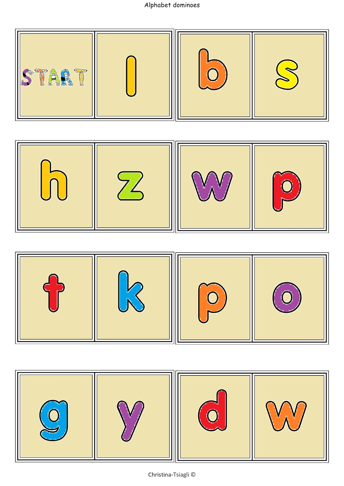 This is an image of Satisfactory Alphabet Games Printable