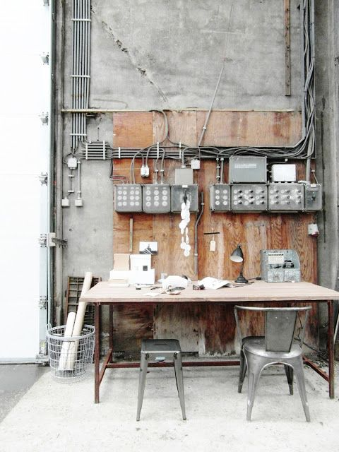 Vivre Shabby Chic: Workspace Inspirations: uno studio Industrial Chic.