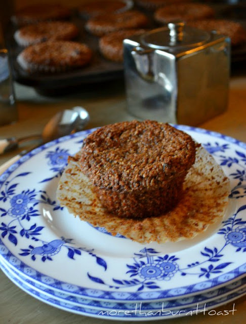 Nancy Silverton Bran Muffins from La Brea Bakery by David Lebovitz on a plate