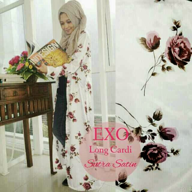 Long cardi@118 mat_ sutra satin,fit to L