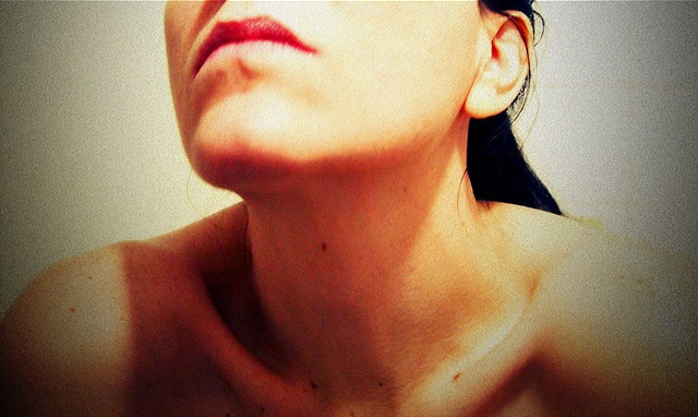 A woman's bare neck