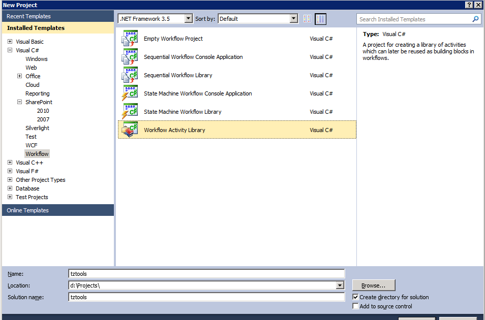 how to create a workflow in sharepoint 2010