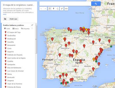mapa maltrato animal fiestas españa