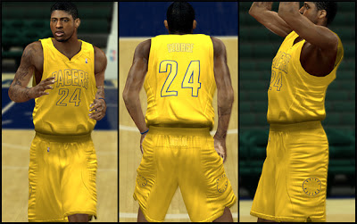 NBA 2K13 Indiana Pacers Big Color Christmas Day Jersey