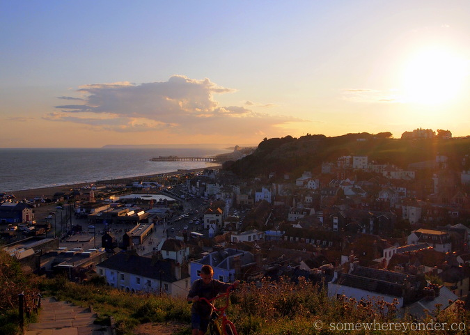Sunset - Hastings Beach, England