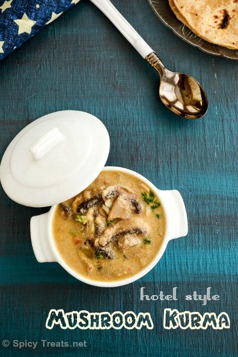 Mushroom Kurma Recipe