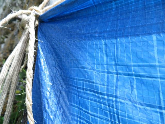Fotografia Macro de Pano de Tenda em Plástico Azul