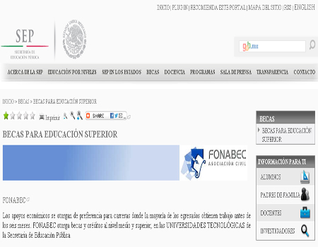 Programas Becas para Educación Superior SEP 2013 PRONABES FONABEC CONACYT CONCYTEC IPN