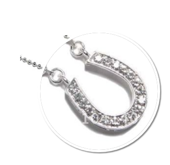 Clear Horseshoe Necklace