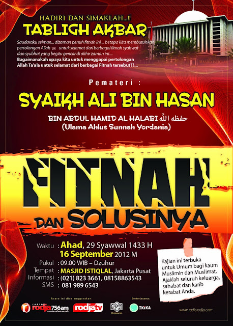 Tabligh Akbar Syaikh Ali Bin Hasan Bin Abdul Hamid Al Halaby-Hafidzohullah Di Masjid Istiqlal Jakarta 16 Septempber 2012