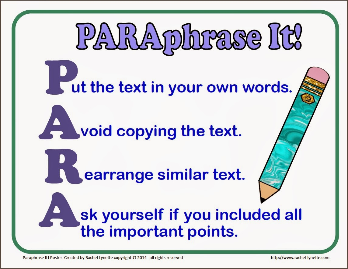 to Paraphrase is explained in Detail Online by Experts | Paraphrasing ...