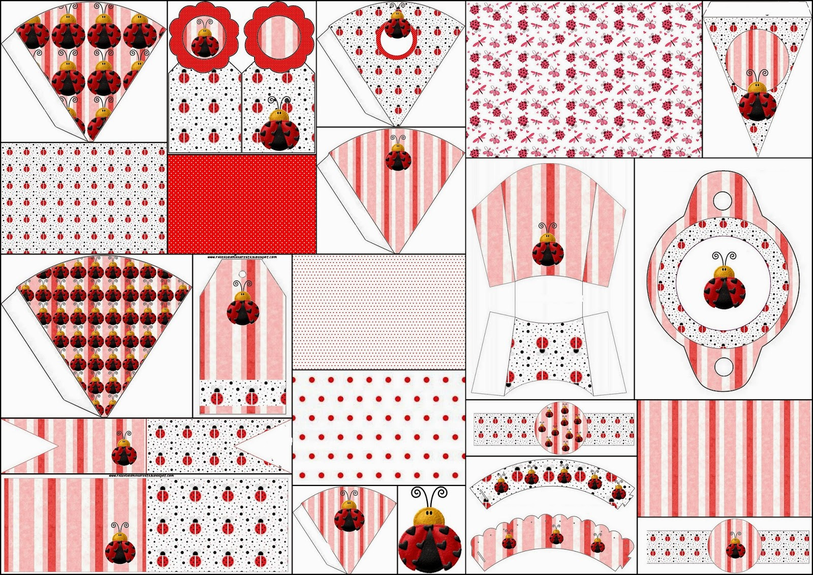 Ladybugs: Free Party Printables, Images and Backgrounds.