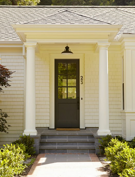 charming entrance // black painted front door