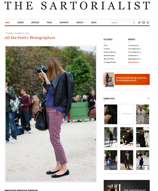 The Sartorialists, All the Pretty Photographers
