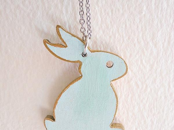 Wooden Bunny Necklace DIY
